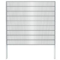 vidaXL 2D gabion plot pozinkovaná ocel 2,008x1,83m 16m (celková délka)
