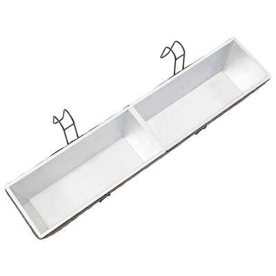 vidaXL Balkonové vyvýšené záhony 2 ks 80 cm šedé polyratan