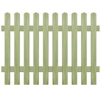 vidaXL Laťkový plot impregnovaná borovice 170 x 120 cm 6/9 cm