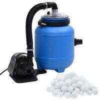vidaXL Bazénové filtrační čerpadlo černé a modré 4 m³/h