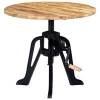 vidaXL Odkládací stolek 60 x (46–63) cm masivní mangovník a litina