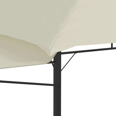 vidaXL Altán se dvěma extra stříškami 3 x 3 x 2,73 m krémový 180 g/m², Krémová