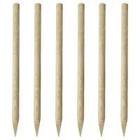 vidaXL Plotové sloupky 6 ks dřevo 170 cm