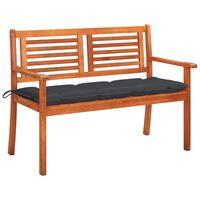 vidaXL 2místná zahradní lavice s poduškou 120 cm masivní eukalyptus