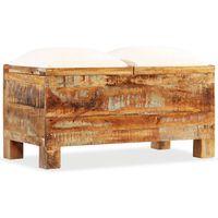 vidaXL Úložná lavice masivní recyklované dřevo 80 x 40 x 40 cm