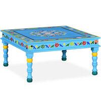 vidaXL Konferenční stolek masivní mangovník ručně malovaný tyrkysový
