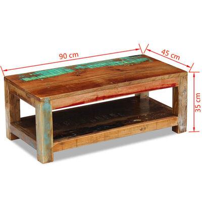 vidaXL Konferenční stolek masivní recyklované dřevo 90x45x35 cm
