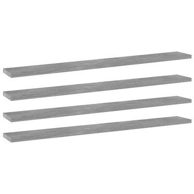 vidaXL Přídavné police 4 ks betonově šedé 80 x 10 x 1,5 cm dřevotříska