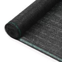 vidaXL Tenisová zástěna černá 1,2 x 25 m HDPE