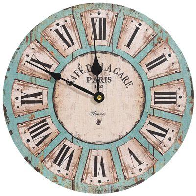 vidaXL Nástěnné hodiny vícebarvené 30 cm MDF