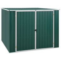 46253 vidaXL Garden Shed Green 195x198x159 cm Galvanised Steel