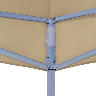 vidaXL Střecha k party stanu 6 x 3 m béžová 270 g/m²