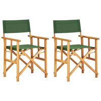 vidaXL Režisérské židle 2 ks masivní akáciové dřevo zelené