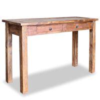 vidaXL Odkládací stolek, masivní recyklované dřevo, 123x42x75 cm