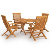vidaXL 5dílný zahradní jídelní set masivní teakové dřevo