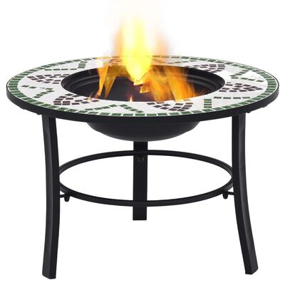 vidaXL Mozaikové ohniště zelené 68 cm keramika