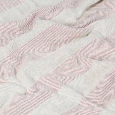 vidaXL Přehoz bavlna pruhovaný 160 x 210 cm stará růžová