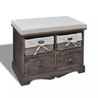 vidaXL Úložná lavice hnědá 62 x 33 x 42 cm dřevo pavlovnie