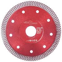 vidaXL Diamantový řezací kotouč s otvory ocel 125 mm