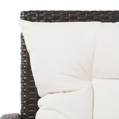 vidaXL 5dílná zahradní sedací souprava s poduškami polyratan hnědá, Brown
