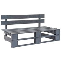 vidaXL Zahradní lavice z palet dřevo šedá