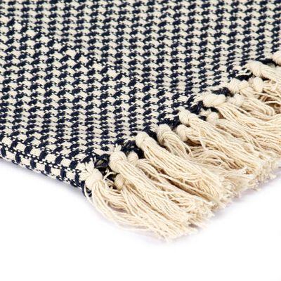 vidaXL Přehoz bavlna 125 x 150 cm námořnická modrá