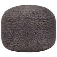 vidaXL Ručně vyrobený sedací puf tmavě šedý 45 x 30 cm juta