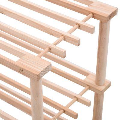 vidaXL Botník se 4 policemi masivní jedlové dřevo