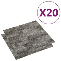 vidaXL Podlahové kobercové dlaždice 20 ks 5 m² šedé