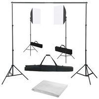 vidaXL Fotostudio set se softboxy a fotopozadím