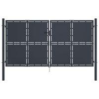 vidaXL Zahradní brána ocel 300 x 150 cm antracitová