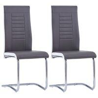 vidaXL Konzolové jídelní židle 2 ks šedé umělá kůže