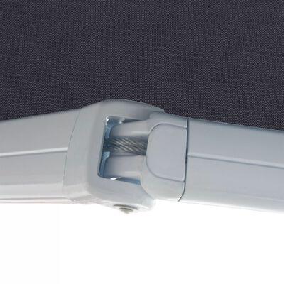 vidaXL Kazetová markýza na ruční ovládání 300 cm antracitová