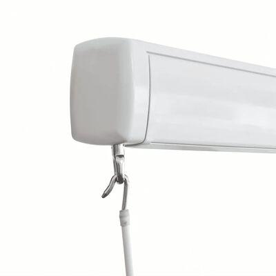 vidaXL Kazetová markýza na ruční ovládání 350 x 250 cm krémová