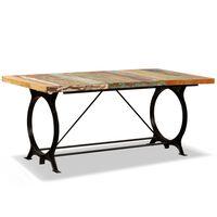 vidaXL Jídelní stůl masivní recyklované dřevo 180 cm