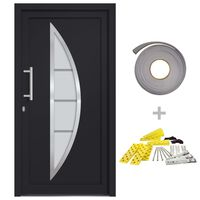 vidaXL Vchodové dveře antracitové 88 x 200 cm