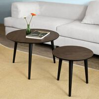 SoBuy FBT40-BR Sada dvou konferenčních stolků, servírovací stolek
