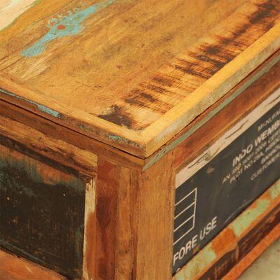 vidaXL Konferenční stolek úložný prostor vintage recyklované dřevo