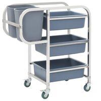 vidaXL Kuchyňský vozík s plastovými nádobami 87 x 43,5 x 92 cm