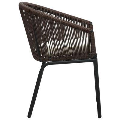 vidaXL Zahradní židle 2 ks hnědé PVC ratan  , Brown