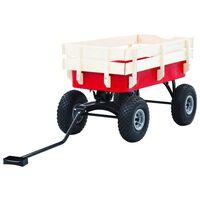 vidaXL Ruční vozík 150 kg červený