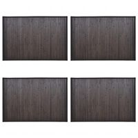 vidaXL Bambusové koupelnové předložky 4 ks 40 x 50 cm tmavě hnědé