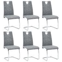 vidaXL Jídelní židle 6 ks šedé umělá kůže