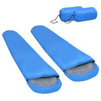 vidaXL Lehký spací pytel 2 ks modrý 15 °C 850 g