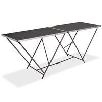 vidaXL Skládací tapetovací stůl MDF a hliník 200 x 60 x 78 cm