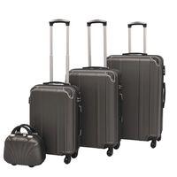 vidaXL Čtyřdílná sada skořepinových kufrů na kolečkách, antracitová