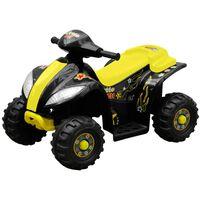 vidaXL Dětská čtyřkolka elektrická žluto-černá