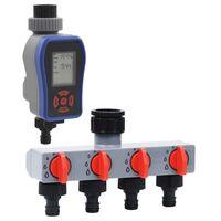 vidaXL Digitální zavlažovací hodiny s 1 výstupem a rozvaděčem vody