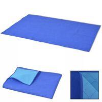 vidaXL Pikniková deka modrá a světle modrá 100x150 cm