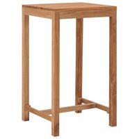 vidaXL Zahradní barový stůl 60 x 60 x 105 cm masivní teakové dřevo